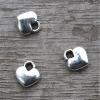 Wholesale Tibetan Charms Heart - 60pcs-- Tiny Heart charms,Antique Tibetan silver Mini Heart charm pendants 8x8mm