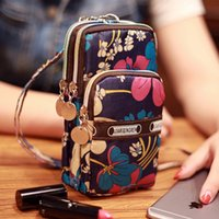 Wholesale Handbag Sports - handbags iphone 7 case Mini Fashion Pattern Zipper Sport Shoulder Bag Wrist Purse For iPhone Samsung Xiaomi