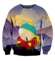 Wholesale Animal Crewneck Sweatshirt - new fashion 3D hoodies Women Men South Park Explosion Carlton print crewneck sweatshirt Funny Fashion Jumpers