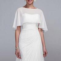 Wholesale navy blue chiffon bolero jacket for sale - Group buy Cheap Chiffon Wedding Wraps Bridal Wraps Jackets Simple Plus Size Wedding Bolero Wedding Accessories