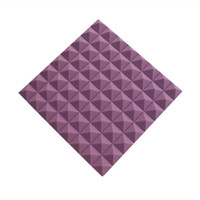 Wholesale Noise Absorption - 5 Pack 19.6''x19.6''x1.9'' Purple Pyramid Soundproofing Acoustic Foam Panel for Recording Studio Music Rooms Noise and Echoes Absorption