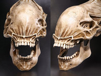 Wholesale alien predator figures - 20 Predator VS Alien Skull Fossil Resin Model AVP Figure Statue Collectible Gift