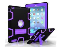 ingrosso robot ipad-Custodia antiurto resistente agli urti 3 in 1 Custodia resistente agli urti con stander per iPad mini 1234 air air2 Pro LG Pad 2/3 Samsung Tab A E