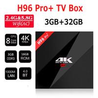 Wholesale Dhl Free 32gb - H96 Pro+ TV Box Amlogic S912 Android 6.0 4K Octa Core TV BOX 3GB 32GB Octa Core 1000m LAN 2.4G 5.8G Bluetooth4.1 16.1 DHL Free 0803096