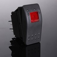 interruptor led iluminado iluminado al por mayor-12V 20A LED ENCENDIDO-APAGADO iluminado Interruptor SPST Coche Van Dash Barco Marine LIGHT EE. UU.