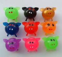 bola de frutas de animais venda por atacado-Fabricantes de atacado fonte de rua de couro vazio respiradouro bola respiradouro brinquedos para fora animais de frutas Brinquedo engraçado vender como bolos quentes