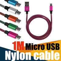 Micro V8 blackberry mold - 1M3FT Micro USB nylon cable Metel mold Fabric Braid USB Cable Data Sync charging USB Cord Colors For Samsung Galaxy HTC Blackberry