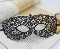 Wholesale Lace Agates - a36 Factory Wholesale Creative Fun Couple Flirting Goggles Fancy Sexy Lace Black Hollow Lace Mask