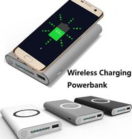 Wholesale Emergency Powerbank - 10000mAh Qi wireless Power Bank Emergency Battery wireless charging power banks Portable powerbank For iphone 8 Samsung Galaxy S7 not7