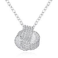 iyi örgü toptan satış-Kadın Gümüş Kolye, 925 Gümüş Kolye Kolye Örgü Örme Linkler Zincirler 18inches İyi Kalite Ücretsiz Nakliye n762