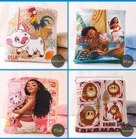 Wholesale Yellow Kids Blanket - Sunshinebabyclothing Hot Sale Trolls and Moana Blankets New Design of Kids Nursey Bedding High Quality Baby Swadding