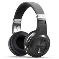 Wholesale Ear Headphone Bluetooth Radio Mp3 - Orignal Brand Bluedio H+ Bluetooth Stereo Wireless headphones Mic Micro-SD port FM Radio BT4.1 Over-ear headphones