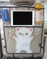 Wholesale Ipad Case For Car - Firstplus Environmental Car Back Seat Protector Kicking Mat Case Cover For iPAD 2 3 4 Air Mini and Drink Catoon Styling
