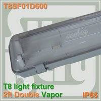 Wholesale Double T8 ft light fixture double row CM waterproof IP65 with G13 holder led Tube MM fitting Vapor