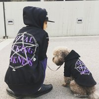 Wholesale pet sleeves - Wholesale Pet Dog Hoodies Jacket Puppy Clothing Family Matching Outfits Short Sleeve T-Shirt Coat Costume Outfit Spring Winter Free Shipping