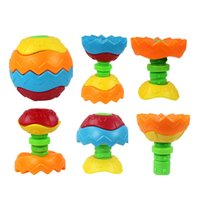 Wholesale Crawling Puzzle - Wholesale- Plastic Infant Baby Crawling Toy Puzzle Ball Deformation Disassemble Assembled Puzzle Educational Toy