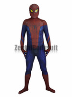 Wholesale zentai hero cosplay for sale - Amazing Spider man costume Spiderman Suit D Printed cosplay Zentai Halloween Party Costumes