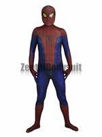 fantasia incrível de spiderman zentai venda por atacado-Incrível Homem-Aranha traje Spiderman Terno-3D Impresso Cosplay Zentai Trajes Do Partido Do Dia Das Bruxas