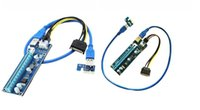 Wholesale Pci Express X16 Extender - Extender PCIE Adapter PCI Express Riser Card PCIE x16 USB 3.0 Cable 15Pin SATA to 4Pin IDE Power Cord