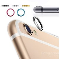 Wholesale Jewelry Rear Camera Glass Metal Lens Protector Hoop Ring Guard Circle Case Cover For iphone plus Inch Retail Package