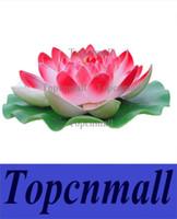 ingrosso i fiori artificiali vendono il trasporto libero-Vendita a buon mercato Diametro 60cm Grande fiore di loto artificiale Piscina galleggiante decorazione sei colori Availavle Spedizione gratuita