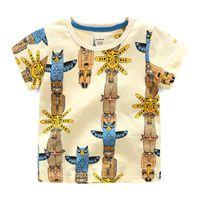 Wholesale Summer Children Cartoon Tees - Everweekend Cute Boys Shirts Vintage Cartoon Owls Print Cotton Tees Blouse Western Fashion Classic Children Clothing