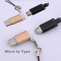 Wholesale Nexus Micro Usb Cable - Micro To Type C Type-C USB Adapter Metal Converter Buckle Cable for Xiaomi 4C Lg G5 Nexus 5x S8 6p Macbook Chromebook