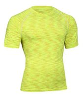 мужские рубашки оптовых-Новый 2017 мужчин слой Футболки фитнес колготки Quick Dry Crossfit сжатия одежда топы удобные спортивная одежда