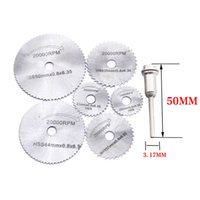 Wholesale rotary saws - 6pcs set Metal Circular Saw Blade High Speed Steel Woodworking Cutting Discs For Rotary Tool Durable Quality
