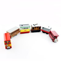 Wholesale Toy Locomotive Trains - Bertie Toby Flora kids toys Mini metal diecast friends collection magnet bus cars tender locomotive carriage train gifts toys model for boys