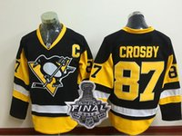 Wholesale Cheap Wholesale White Cups - 2017 Penguins 87 CROSBY Hockey Jerseys shirts,Cheap 58 LETANG Training Hockey Wear uniforms,With 2017 Stanley Cup Finals Patch Hockey Wear