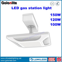 Wholesale China Led Lights Prices - China factory price 130Lm w good price 150W 120W 100W canopy lighting for petrol station LED gas station light fixture