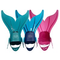 Wholesale Adjustable Wave Fins Kid Frees Cuba Diving Equipment Training Flipper Mermaid Kel Shoes Tail Diving Fins Snornt Feet Tail