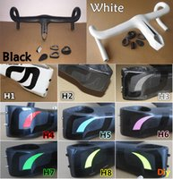 Wholesale Carbon Models - Top sale in 2017 carbon road bike Handlebar with 8 Models Black White carbon Handlebar 400 420 440mm*90 100 110 120mm Free shipping