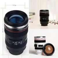 Wholesale Wholesale Photography Lenses - Creative Camera Lens Coffee Mug Canons Cup 6 Generation Of Len Mugs For Canon Fans Photography Novelty Gifts XL-G87