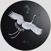 Wholesale Plaster Patches - T-46 1PCS patches of Red Crowned Crane Crane embroidery accessories back sticking plaster on flower embroidery ironing paste