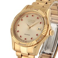 Wholesale Cjiaba Watches - CJIABA GA1021 Men's Stainless Steel 30M Waterproof Automatic Mechanical Wrist Watch Wristwatch Watches Free Shipping