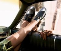 женская обувь оптовых-2019 Дамы Мех Женщин Гнездо Формы Уютные Тапочки Плоские Туфли Черные Натуральная Кожа Покрытие Toe Loafer Shoes Низкая Цена