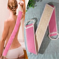 Wholesale Body Skin Health Cleaning Soft Exfoliating Loofah Back Strap Bath Brush Shower Massage Spa Scrubber Sponge