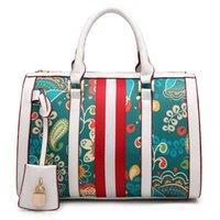 Wholesale Pops Locks - Best Quality Brand Stripes Handbags For Women Floral Print Fasahion Messenger Bag Pop Mini Purse PU Leather Shoulder bags Free Shipping