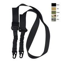 Wholesale Outdoor Sports Army Hunting Rifle Shooting Paintball Gear Airsoft Strap Gun Lanyard Two Point Dual Point Tactical Sling SO12