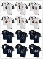 Wholesale california fashion men - 2018 New California Golden Bears Aaron Rodgers 8 Bryce Treggs 1 Chad Hansen 6 Chris McCain 40 Men's Fashion Football Shirts