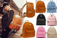 Wholesale Skull Shoulder Purse - Top Selling Men Women Handbags bag Shoulder Bags Purse Wallet Famous Messenger Bags Totes Bag PU Leather Fashion Designer Rivet Backpack