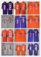 Wholesale Ivory Tiger - 2017 Fashion Stitched Men College Clemson Tigers Jerseys 2 Sammy Watkins 3 Artavis Scott 4 Deshaun Watson Champions Orange Purple White