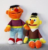 Wholesale Bert Ernie Plush - 2pcs lot Cartoon Plush Toys Sesame Street Ernie And Bert Creative Doll Stuffed Toy Super Quality Gift for Children