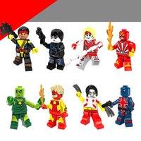 Building Blocks Minifigures Action Briques Super Héros Forge Domino Oméga Radioactive Homme Union Jack Enfants De Noël DIY Jouets 8 pcs / set PG8082