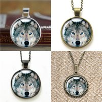 Wholesale Bracelet Wolf - 10pcs Wolf pendant Glass Photo Necklace keyring bookmark cufflink earring bracelet
