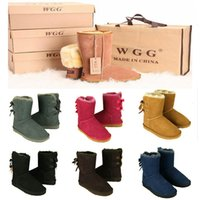 Wholesale Womens Boots Floral - Free shipping 2017 High Quality WGG Women's Classic tall Boots Womens boots Boot Snow Winter boots leather boot US SIZE 5-10