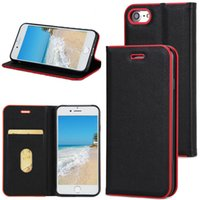 Wholesale Photo Plastic Bags - For iPhone 7 6S 6 Plus Samsung S8 S7 Folio Wallet Case With Photo Frame Card Slot Filp Case Kickstand Cover For iPhone 5S 5 With OPP Bag