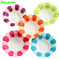 Wholesale Paper Plate Material - Hapyxuan 5 packs (25pieces) Handmade DIY Creative Paper Flower Plate Craft Material Kindergarten Classroom Decoration Supplies